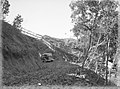 A car on a narrow gravel road through bush (AM 84551-1).jpg