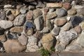 A creative stone wall in which the creator embedded various everyday objects, including tools LCCN2013630774.tif