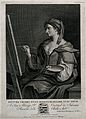 A female allegory of Painting. Engraving by A. Testa after G Wellcome V0049033.jpg