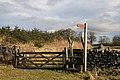 A ladder stile and signpost at Gala Rig - geograph.org.uk - 1174569.jpg