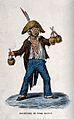 A man wearing a large straw hat with a feather in it is carr Wellcome V0039640.jpg