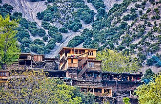 Kalasha Valleys - Image: A typical house in Kalash Valley