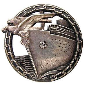 Blockade Runner Badge - Image: Abzeichen für Blockadebrecher