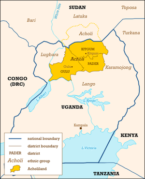 History of Uganda - Acholiland in the north.