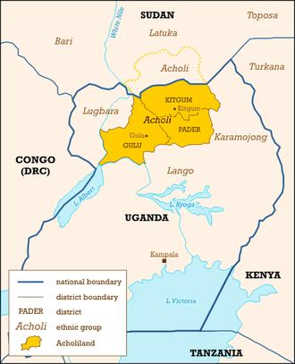 History of Uganda - Acholiland in the north.