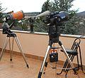 Achtzöller (Celestron, Meade) und Apogee-Teleskop.JPG