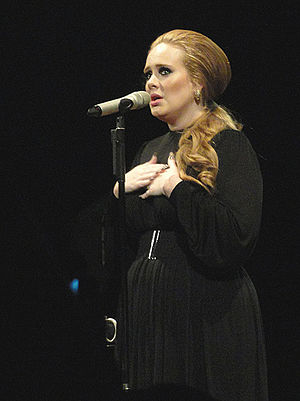 "Adele Live - Adele performing ""Someone Like You"" during a concert in Seattle, Washington."