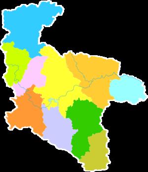 Ankang - Image: Administrative Division Ankang