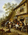 Adriaen van Ostade - Dansende boeren voor een herberg (1670).jpg