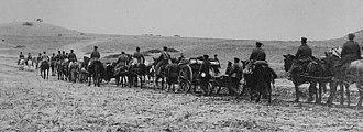 Train (military) - Siege train arriving before Adrianople, Nov. 3, 1912