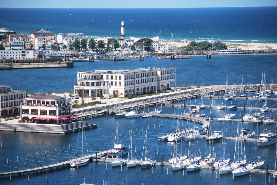 Aerial view Yacht Harbour Residence Rostock Yachthafenresidenz Hohe D%C3%BCne 1