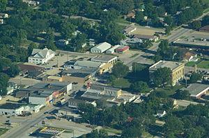 Lyndon, Kansas - Image: Aerial view of Lyndon, Kansas 9 4 2013