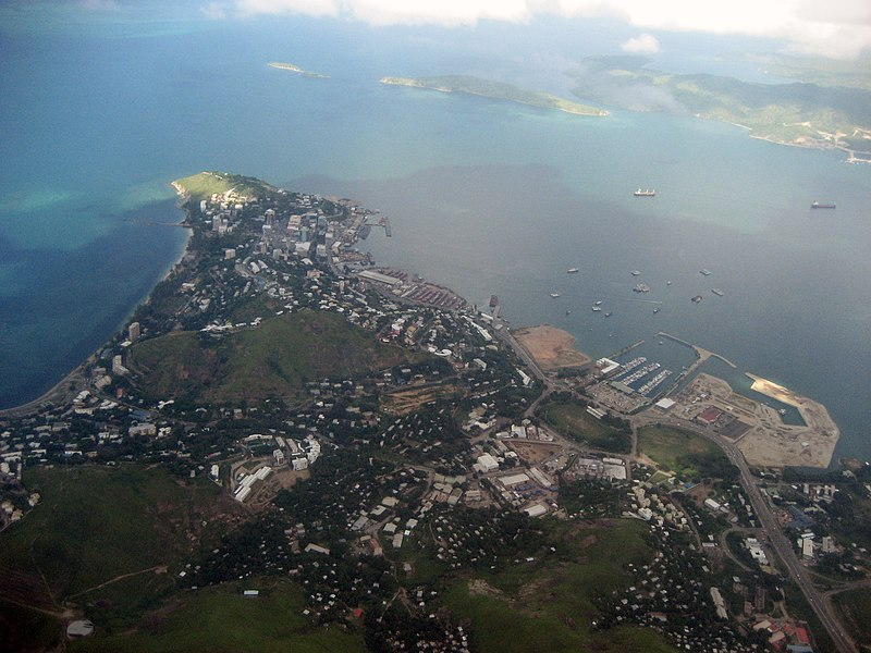 Aerial View Port Moresby, PNG