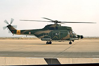 Angolan War of Independence - An SA-330 Puma of the Portuguese Air Force.