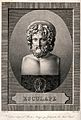 Aesculapius. Engraving by A.J. Mécou after Vauthier. Wellcome V0035836.jpg