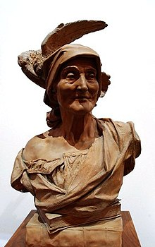Busto con cuervo de Agapito Vallmitjana que es encuentra en la Biblioteca Museo Víctor Balaguer