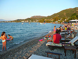 The beach of Agios Vasileios