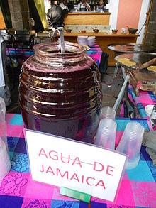 Agua de Jamaica - Wikipedia, la enciclopedia libre