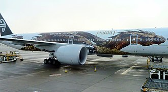 Smaug - Smaug's character on Air New Zealand Boeing 777-300ER