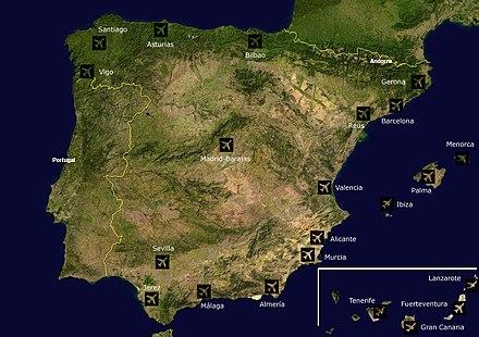 Gran Canaria Karte Flughafen.Liste Der Flughäfen In Spanien Wikipedia