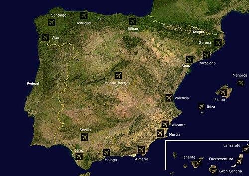 Cartina Geografica Spagna E Formentera.Spagna Wikivoyage Guida Turistica Di Viaggio