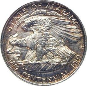 Alabama Centennial half dollar - Image: Alabama centennial half dollar commemorative reverse