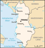 Map of Albania