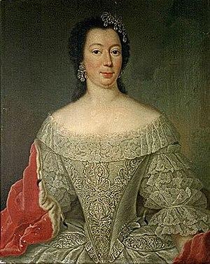 Victor Frederick, Prince of Anhalt-Bernburg - His second wife, Albertine of Brandenburg-Schwedt.