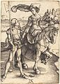 Albrecht Dürer - Lady on Horseback and the Lansquenet (NGA 1943.3.3463).jpg