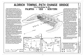 Aldrich Towing-Path Change Bridge, Spanning New York State Heritage Trail, Aqueduct Park (moved from Macedon, NY), Palmyra, Wayne County, NY HAER NY,59-PALM,1- (sheet 1 of 4).png
