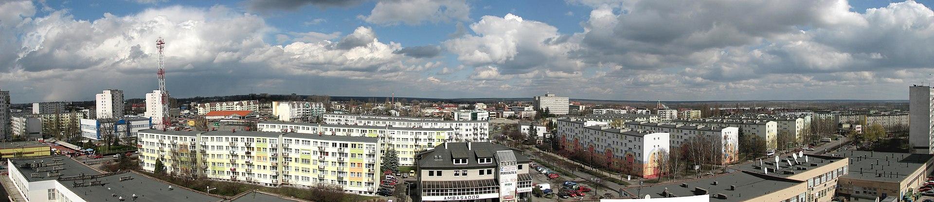 Panorama miasta z alei Pokoju