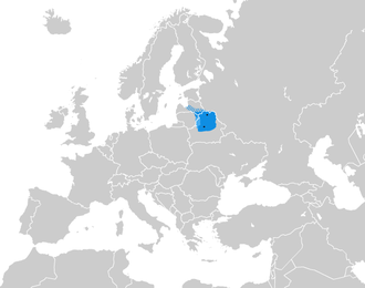 Principality of Polotsk - Dots represent cities of Minsk and Polotsk