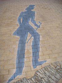 Alexander pushkins shadow art object in Odessa 02.jpg