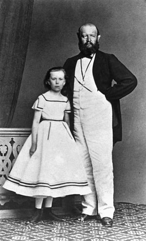 Alfred Escher - Alfred Escher with daughter Lydia, around 1865