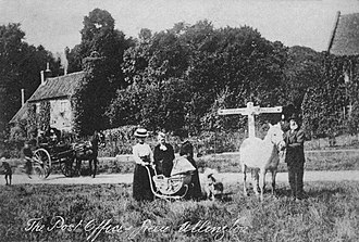 Allington, Lincolnshire - The post office and green in 1908