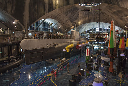 EML Lembit in the Estonian Maritime Museum. The Lembit is the only minelayer submarine of its series left in the world. Allveelaev Lembit 2012.jpg