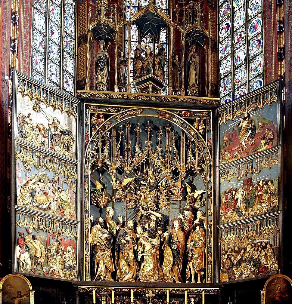 Altar of Veit Stoss, St. Mary's Church, Krakow, Poland