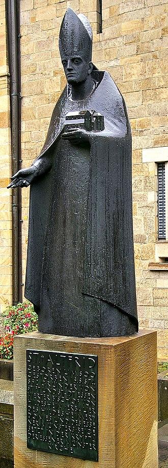 Altfrid - A modern statue of Saint Altfrid at Essen Cathedral