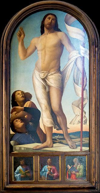 Alvise Vivarini - Image: Alvise Vivarini, Cristo risorto, 1497 98