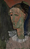 Amedeo Modigliani - Self-Portrait as Pierrot - KMSr88 - Statens Museum for Kunst.jpg