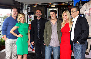 American Reunion - American Pie: Reunion cast, at Harry's Cafe de Wheels in Sydney 2012.