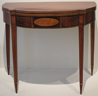 Poker table - A card table made about 1800 by New Englander Elisha Tucker.
