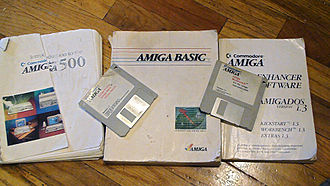 Amiga 500 - The standard Amiga 500 requires floppies to boot