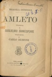 William Shakespeare: Amleto