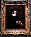 Amsterdam - Rijksmuseum - Late Rembrandt Exposition 2015 - Portrait of a Gentleman with a Tall Hat and Gloves c. 1656-1658.jpg