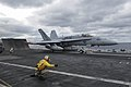 An F A-18C Hornet launches from USS Theodore Roosevelt. (16160821468).jpg