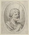 An apostle raising his eyes in prayer, in an oval frame, from Christ, the Virgin, and Thirteen Apostles MET DP837891.jpg