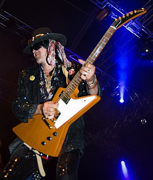 Andy McCoy - McCoy performing at Ilosaarirock in July 2008