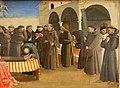 Angelico, predella con scene francescane, 1429, 05.JPG