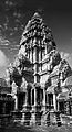 Angkor Wat central tower black and white.jpg
